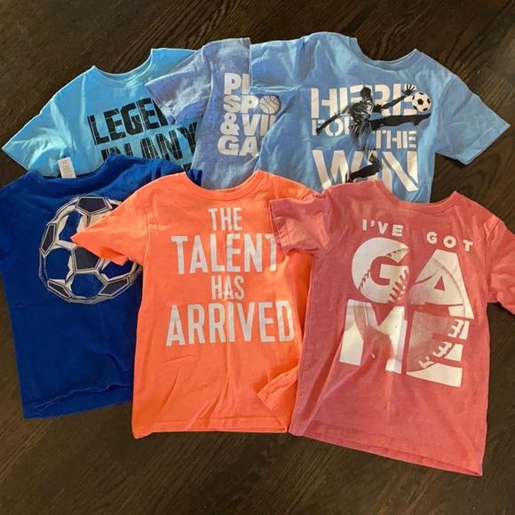 Boys T-shirt bundle size 5/6, EUC.